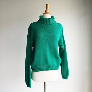 VINTAGE | Chunky Knit Turtleneck | Medium